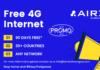 AIRX 4G Internet Promo